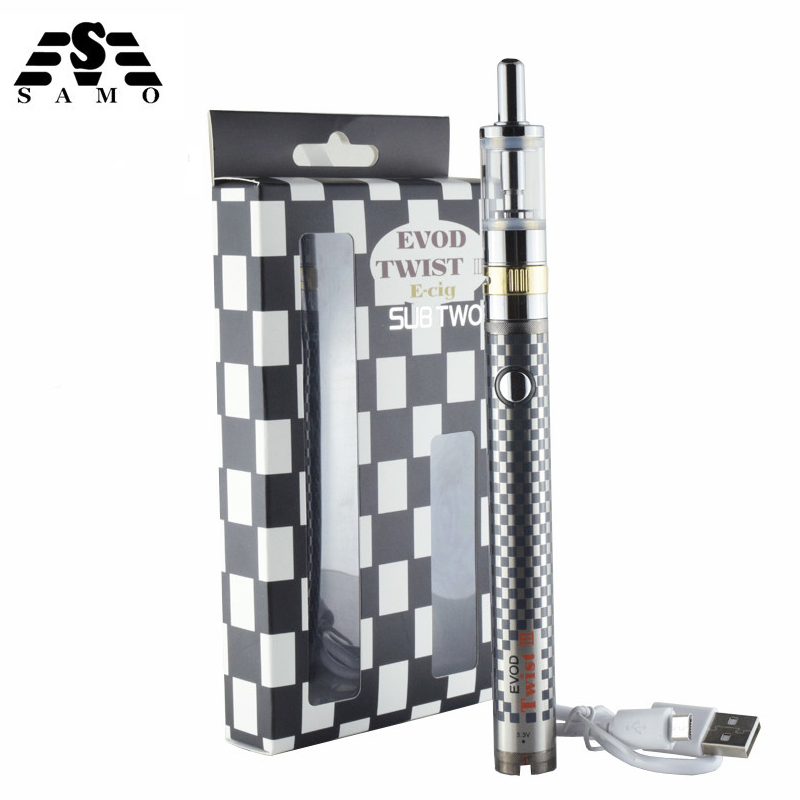 5 pcs twist III E-cig tension réglable electornic cigarette starter kit Double Bobine de contrôle du flux d'air M16 atomiseur torsion