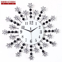 20 Inch Creative Flower Wall Clock Modern Design Mute Art Living Room Wall Watch Fashion Home Decor Clock Wall Big Wall Clock