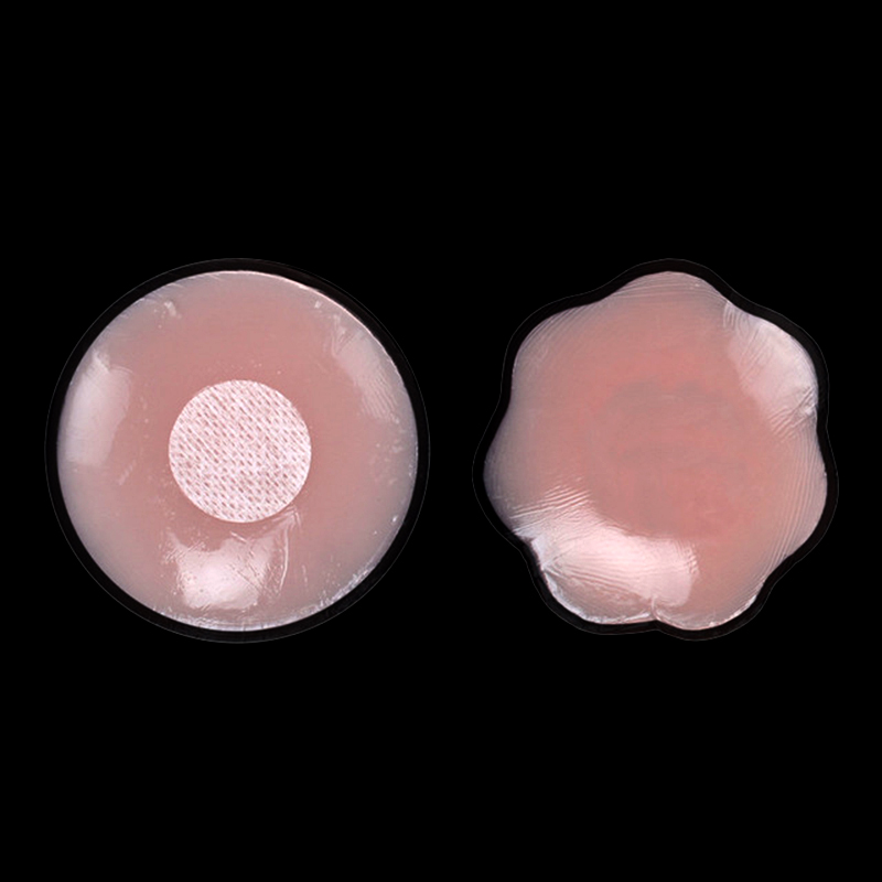 1 Pair Silicone Nipples Anti-bump Invisible Chest Stickers Non-marking Bra Reusable Self Adhesive Body Concealer