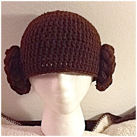 Princess Leia Inspired Hat  Crochet Princess Leia Wig  Star Wars Hat  Available in Newborn to Child Size- MADE TO ORDER eccc0ccf456