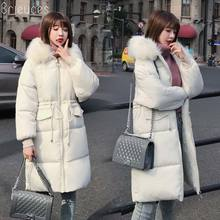 цена на Brieuces Winter Jacket Women Plus size 2018 New Ukraine 3XL Womens Down Cotton Thicken Jackets Hooded Long Coat Female Parka