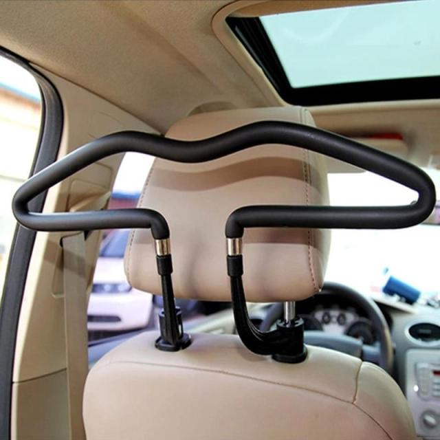 1pc Metal Car Seat Headrest Clothes Hanger Jacket Suit Holder Rack