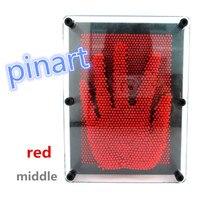 1 pcs por atacado De brinquedo De Plástico vermelho jogo engraçado forma pin arte Pinart 3D clone Pinscreen agulha presente frete grátis