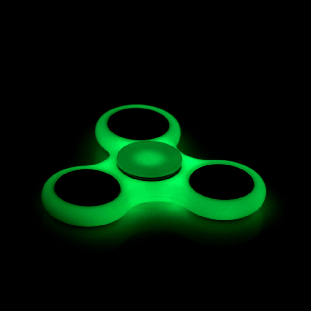 Top Lighting White Tri Spinner Fidget Toy ABS Plastic EDC Hand Spinner For Autism And ADHD