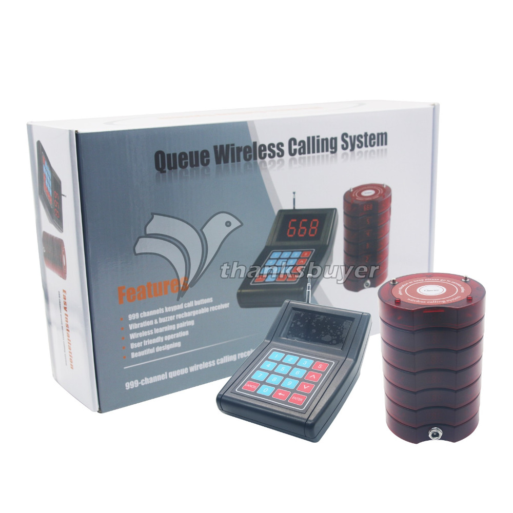 Wireless Queue Number Meal Pager 1 to 10 Service Food Taking Calling Equipment for Restaurant Cafe wireless service call bell system popular in restaurant ce passed 433 92mhz full equipment watch pager 1 watch 7 call button