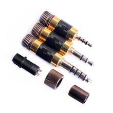 OKCSC The Awesome Plug 2.5mm/3.5mm/4.4mm Balance Jack Adapter Set 3 in 1 HiFi DIY Cables Tools Kit Carbon Fiber Rhodium Plated