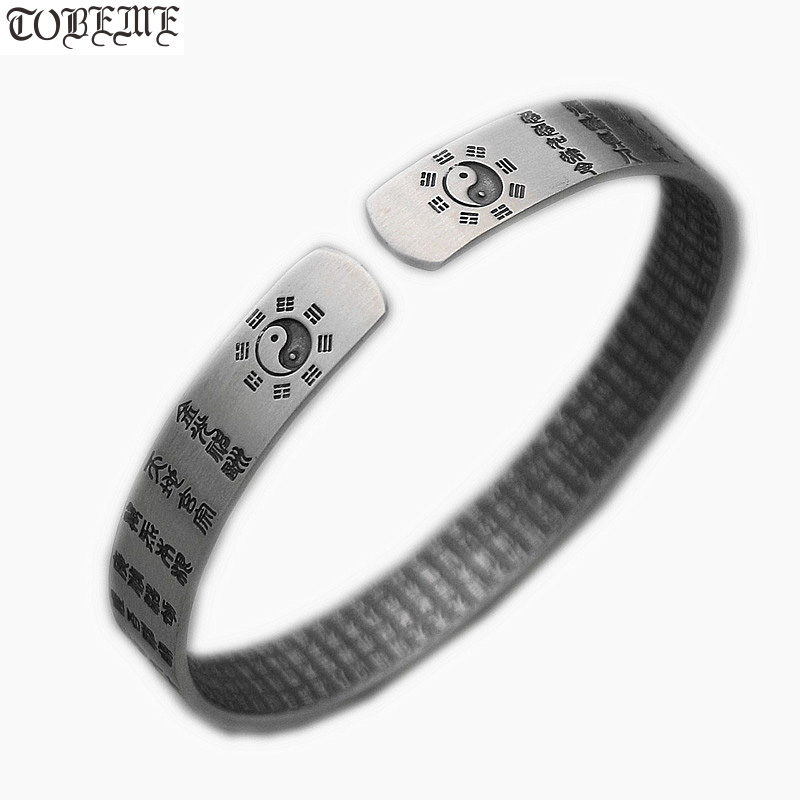100% 999 Silver Bangle Buddhist Heart Sutra Bangle Real Pure Silver Fengshui Taichi Yinyang Bangle Good Luck Bracelet100% 999 Silver Bangle Buddhist Heart Sutra Bangle Real Pure Silver Fengshui Taichi Yinyang Bangle Good Luck Bracelet