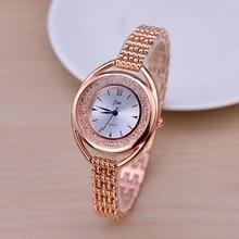 Moda de Oro Rosa Pulsera Relojes Mujeres Top Marca De Lujo de Las Señoras Reloj Del Cuarzo Del Diamante Famoso Reloj Relogio Feminino Hodinky XFCS