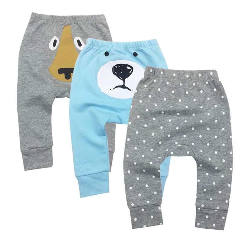 2018 Infantil Toddler Newborn Baby Boys Girls Pants Unisex Casual Bottom Harem Pants PP Baby Boy Pants Clothes Trousers 3M-24M
