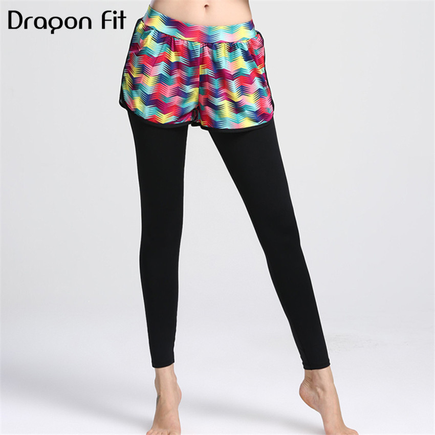 Dragon Fit Patchwork Breathable Yoga Pants Women Elastic Sport Leggings Push Up Running Quick Drying Compression Yoga Leggings