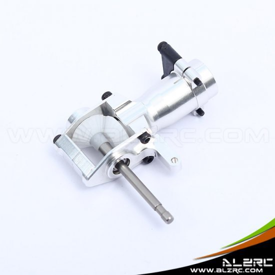 ALZRC  450 Pro Metal Tail Torque Tube Unit - Bright silver  RC Helicopter Parts HP45034D 450 pro dfc tail boom mount torque tube front drive gear set for trex 450 helicopter