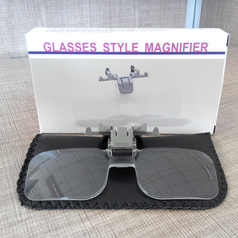 light weight glasses style magnifier 2x pmma acrilic. Black Bedroom Furniture Sets. Home Design Ideas