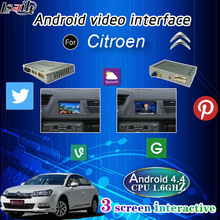 Android Navigation Video Interface With 3G Wcdma Wifi for Citroen Peugeot DS