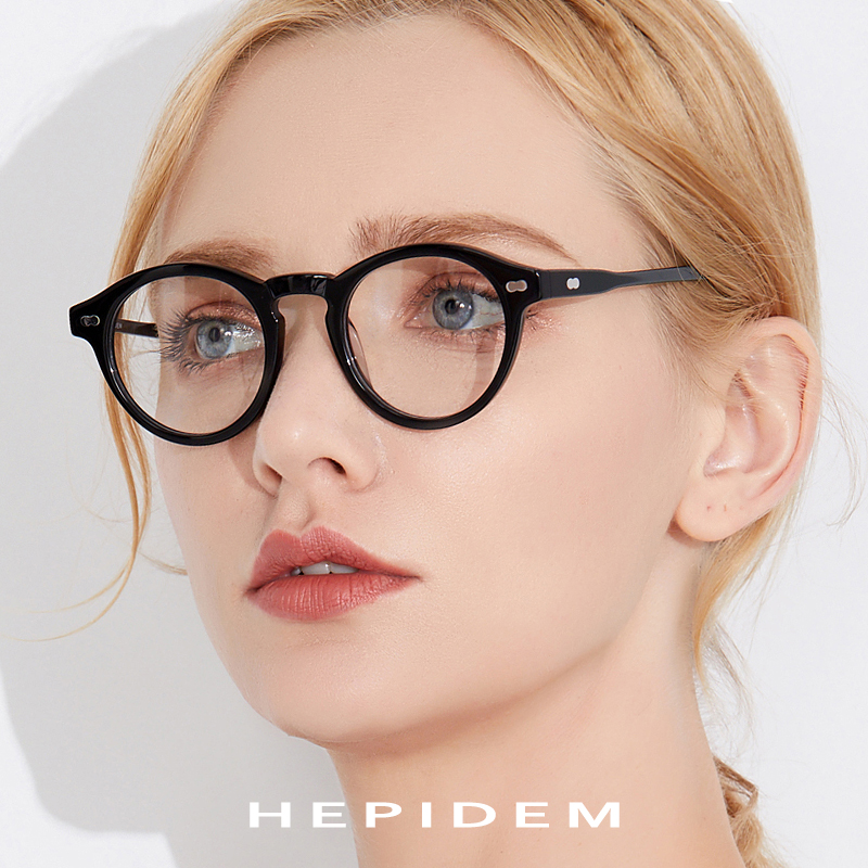 3ae83d895c Acetate Glasses Frame Men Vintage Round Prescription Eyeglasses Women Retro  Transparent Myopia Optical Frames Spectacles Eyewear-in Eyewear Frames from  .