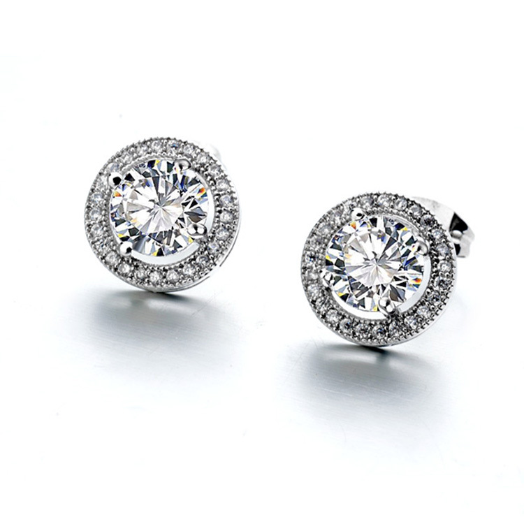 Fashion jewelry 925 Sterling silver Needle Hollow Carved Earrings Female Crystal from Swarovski Woman Christmas giftFashion jewelry 925 Sterling silver Needle Hollow Carved Earrings Female Crystal from Swarovski Woman Christmas gift