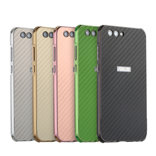 For ASUS Zenfone 4 ZE554KL Case Aluminum Metal Frame+Carbon Fiber Hard Back Cover Case for ASUS Zenfone 4 ZE554KL 5.5'' Shell смартфон asus zenfone 4 ze554kl black 90az01k1 m01210