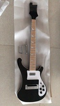 Wholesale Unfinished Ricken.5 string 4003 electric bass guitar Through Neck In Black Price Inluded Bridge 171123