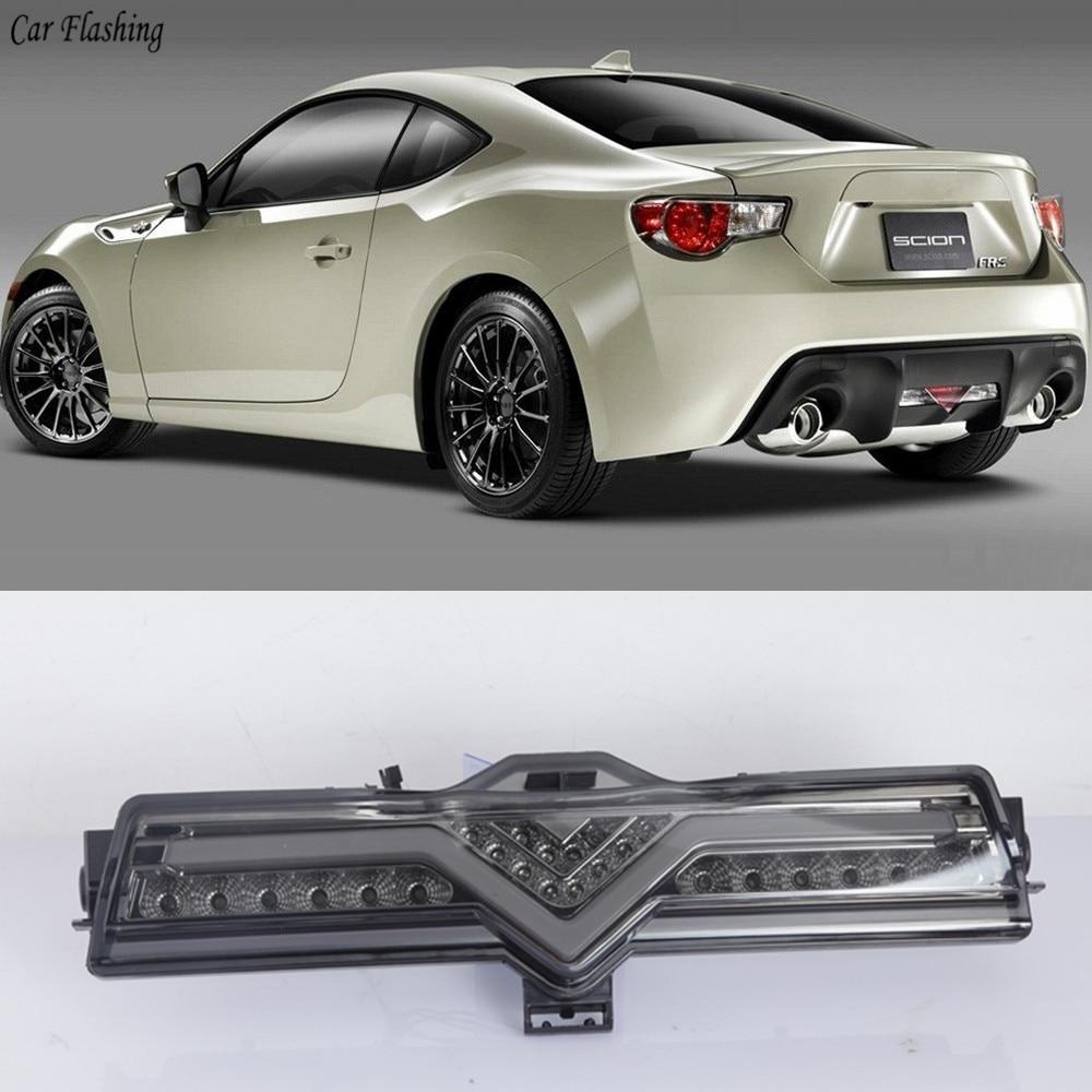 Car Flashing 1PCS LED Rear Fog Light Assembly Kit For Subaru BRZ Scion FR-S Toyota GT86 Tail Brake Reverse Lamp Tail Rear Lamp