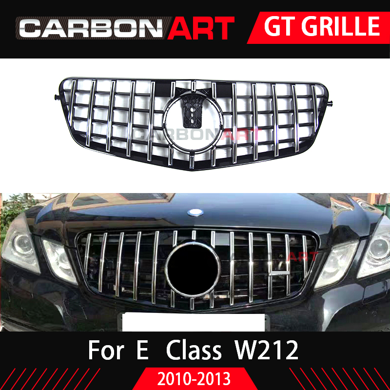 W212 GT Grill Vertical Grille Prefacelift For Mercedes Benz E Coupe Front Racing Grid Sport 2010