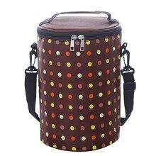 Портативный Изолированные холст обед мешок новое обновление небольшой кулер тепловой Ланч-бокс сумки для детей tote Размер 20*20*29 см скидка 30% C204