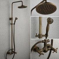 פולוק חמים וקרים נחושת עתיק אירופאי כולו מקלחת מקלחת מקלחת סט מקלחת גדול רטרו