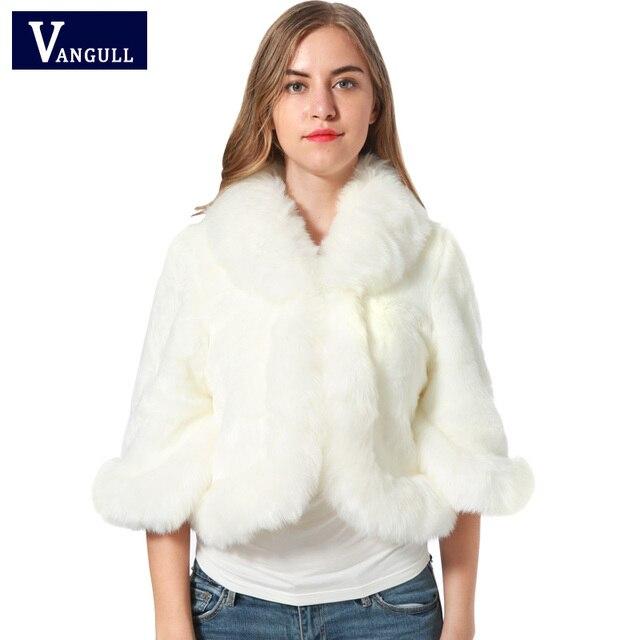 cb6349ccd3c52 Fur Faux Fur Coat Mink Hair Rex Rabbit Hair Cape Jacket 2017 Black White Fur  Overcoat Imitation Rabbit Fur Faux Fox Collar XXXL