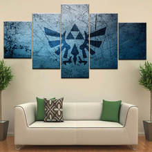 Modular Canvas Painting Wall Art Pictures Frame Living Room Decor 5 Pieces Legend Of Zelda Cartoon Game Logo Poster
