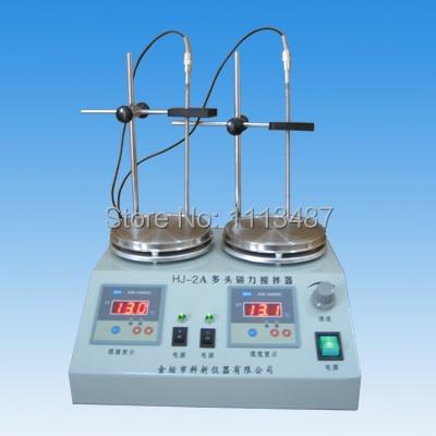 TWO unit Digital display thermostatic control Lab magnetic stirrer mixer HJ-2A RT.-100C 0-2400rpm digital shear emulsification lab mixer lr 10 mixer disperser emulsifying machine 10kg capacity 220v or 110v