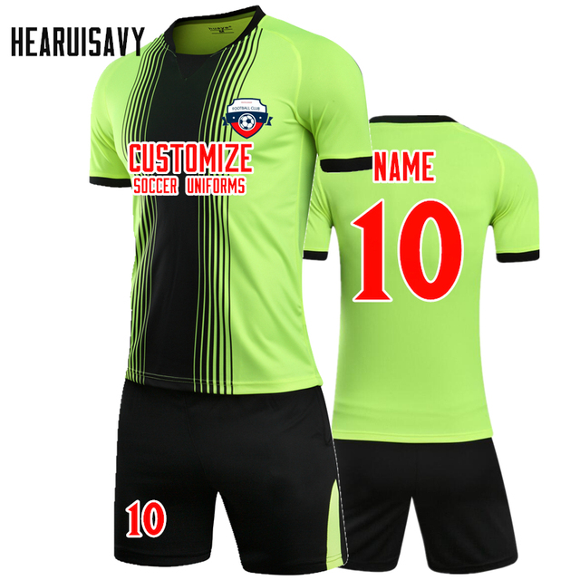 a910cc4bf Hearuisavy 2018 Mens Football Training Suit Soccer Jerseys Set Boys Soccer  Jersey Youth Set Kids Football Kits Maillot De Foot