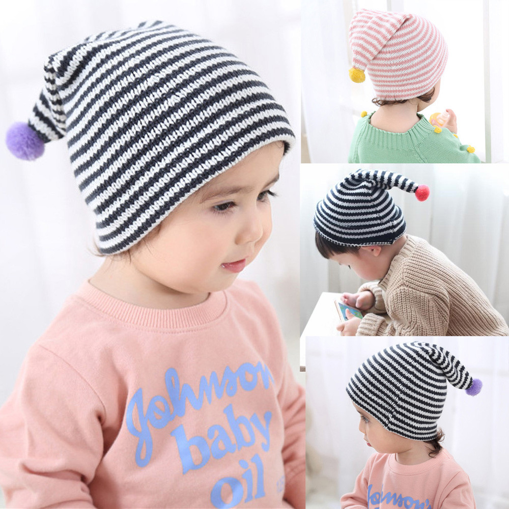 Fashion Baby Hat Baby Cute Ball Cap Fashion Keep Warm Winter Hats Knitted Wool Hemming Hat Beanie Cap Photo Props Accessories
