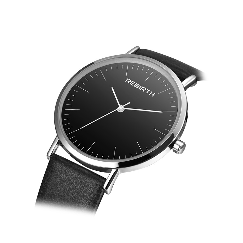 New REBIRTH Fashion Watch For Men Women Watches Lovers Simple Mens Watches Ladies Ultra Thin Male Quartz Clock Wrist Watch 2018 ultra thin watch male student korean version of the simple fashion trend fashion watch waterproof leather watch men s watch quar