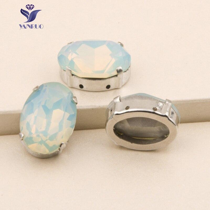 20e547f56ab7 YANRUO Oval 4120 del Pacífico piedras de ópalo y cristal de coser de  cristales de diamantes de imitación perlas boda Vestido