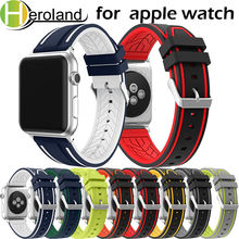 Bracelet Sports Silicone for apple watch band 42mm 38mm 40mm 44mm smart Watchbands men women Strap iWatch Series 4new