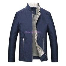 M-3XL  Autumn New Loose Casual Mens Jacket Stand Collar Business Jackets Men Solid Color Zipper Coats