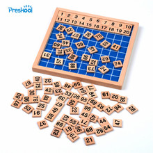 Family Version Montessori Baby Toy Hundred Board Math for Children Learning & Education Wooden Kids Toys Brinquedos Juguetes
