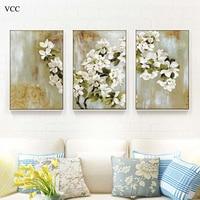 VCC 3 Unidades Apple Blossom Imagen Del Arte de la Lona, Pinturas Sobre El Arte de La Pared Pintura de la Lona, Pared Cuadros Para Livig Habitación, Decoración Para El Hogar
