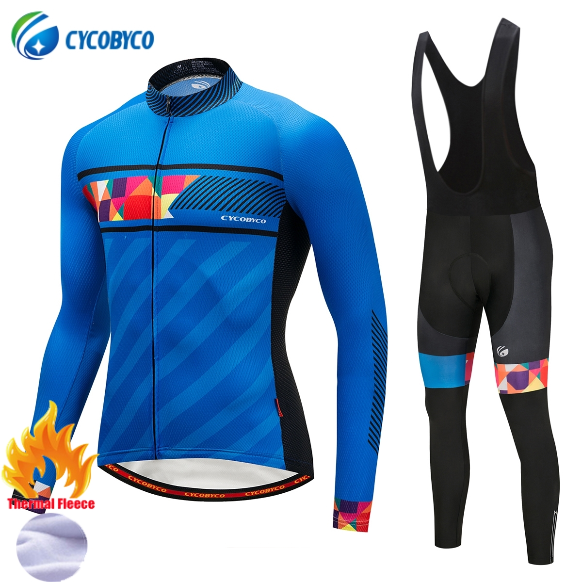 Cycobyco Winter Thermal Fleece Cycling Clothing Bike Clothes Wear Bicycle Jersey Set Long Sleeve Maillot Ropa Ciclismo Invierno teleyi 2017 women winter thermal fleece cycling clothing pro bike clothes wear mtb bicycle jersey set maillot ropa ciclismo sets