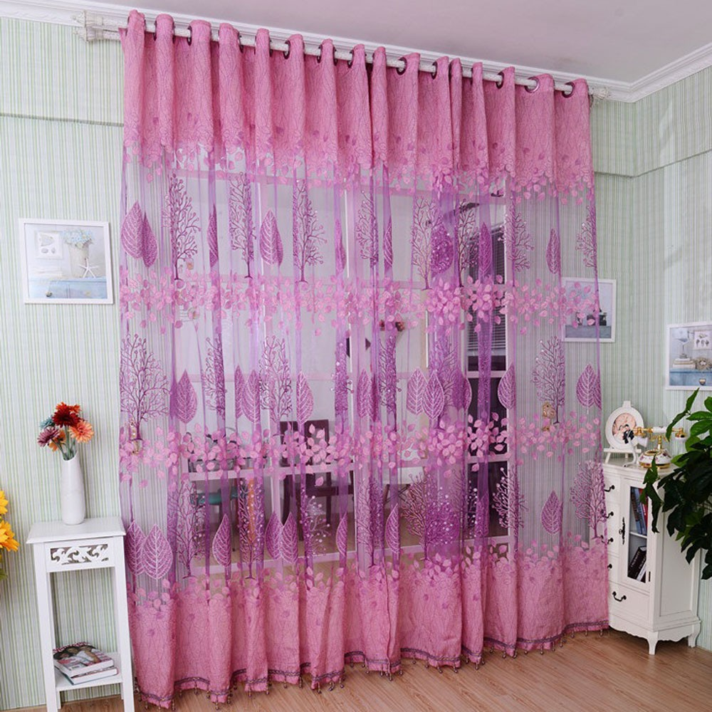 Patterned Curtains Living Room Patterned Voile Curtains Promotion Shop For Promotional Patterned
