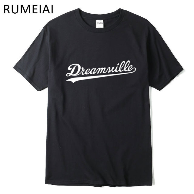 Rumeiai Dreamville Fashion T Shirt Men Cotton T Shirt Short Sleeves