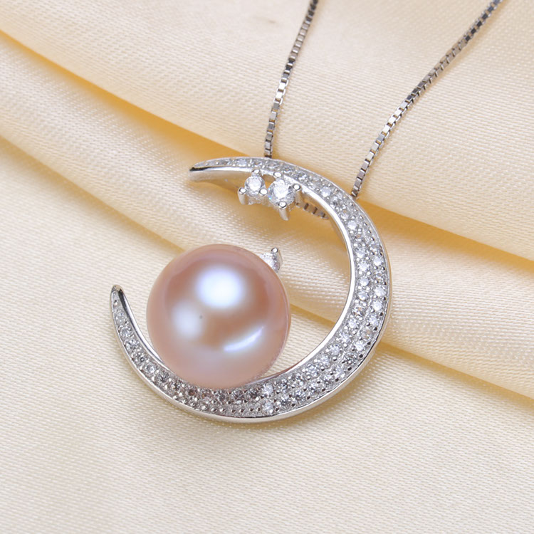Moon Style Hot Wholesale Pearl Pendant Mountings Pendant Findings Pendant Settings Jewelry Parts Fittings Women Accessories