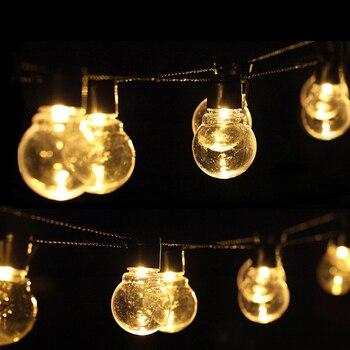 Xsky 6M 20 LED guirnalda de luces de hadas para boda decoración de jardín de Navidad bombilla LED globo guirnalda de luces Led EU US Fiesta al aire libre