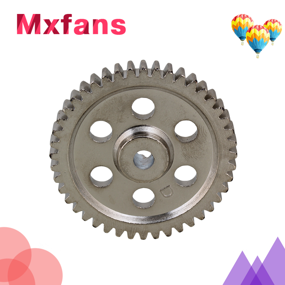 Mxfans 44T Steel Speed Drive Diff Main Gear for HSP RC 1:10 Model Car Silver 05112