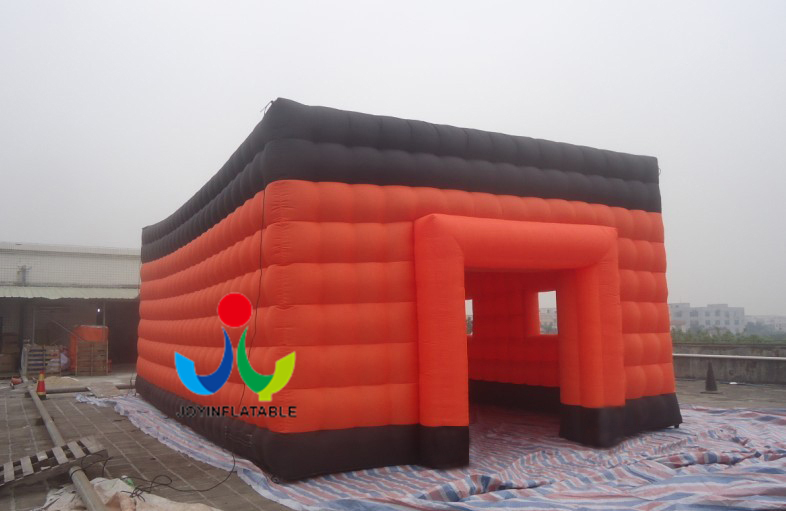 2018 Cheap Joy Inflatable Customized Giant Cube Orange Inflatable Tent for Event With 210D Oxford Material