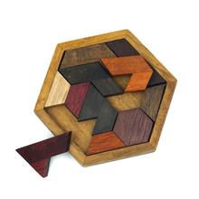 Children Toy Geometry Wooden Jigsaw Puzzle Tangram Made Of Wood Educational Toys for Kids