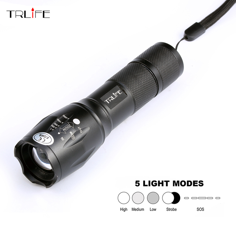 High Quality Professional 8000LM CREE XML-L2 LED Flashlight Bright Waterproof 5 Modes Zoomable Led Torch Lanterna Lighting