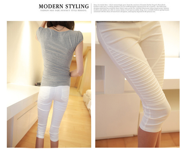 Casual three quater pants trousers design for pregnant women maternity summer clothes