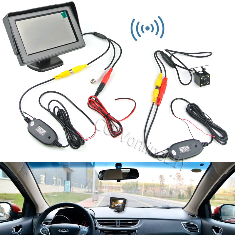 ANSHILONG Sistema di backup per retrovisione per auto wireless - Elettronica per Auto