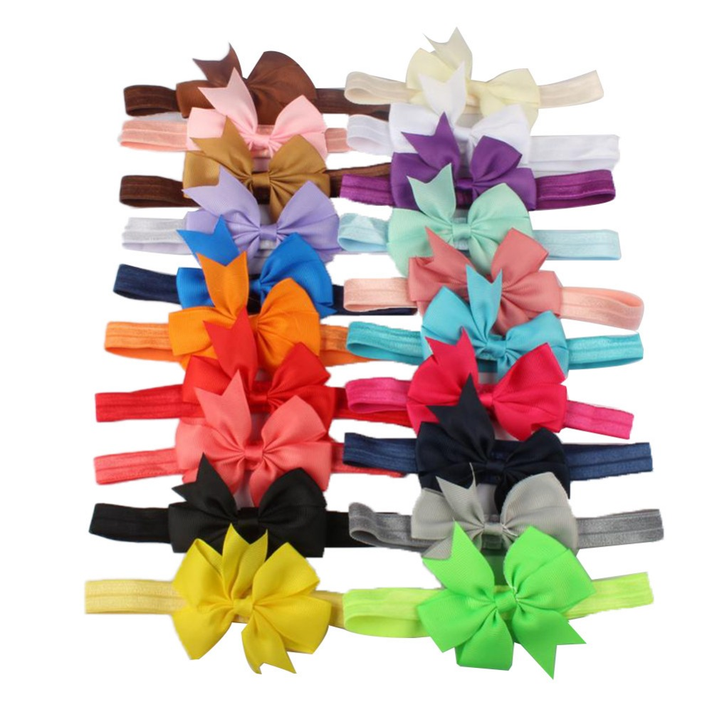 20Pcs baby girl headbands Baby Hair Accessories Ribbon dovetail headband Toddler Girl Kids Bow Hairband unicorn party toka20Pcs baby girl headbands Baby Hair Accessories Ribbon dovetail headband Toddler Girl Kids Bow Hairband unicorn party toka