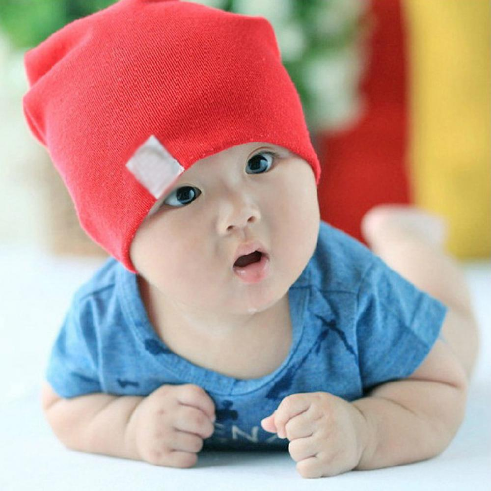 1PC Lovely NewBorn Boys Girls Unisex Cute  Kids Cotton Beanie Cotton Hat Soft Toddler Cap newborn kids skullies caps children baby boys girls soft toddler cute cap new sale