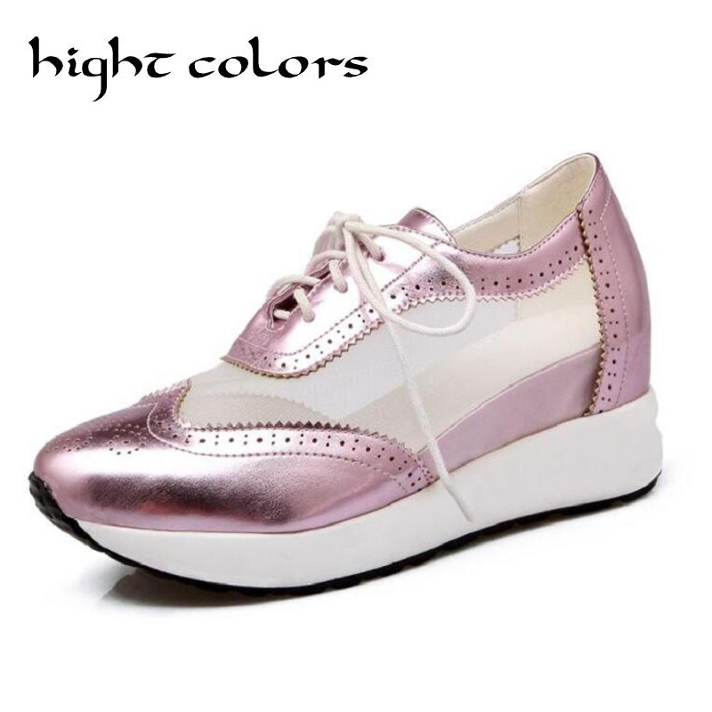 Size 31-42 Women Shoes Platform Casual Flat Shoes For Women Fashion Mesh Patchwork Lace Up Flat Walking Loafers Shoes Femme e lov women casual walking shoes graffiti aries horoscope canvas shoe low top flat oxford shoes for couples lovers